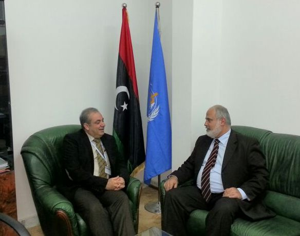 Meeting with Dr. John Jabbour, WHO representative in Libya